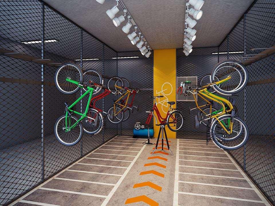 | Perspectiva Artística - Bicicletário
