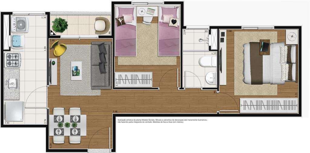 | 2 Dormitórios Sonata