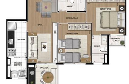 Apartamento para Venda, Espaço Cerâmica