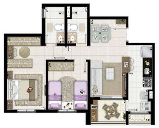 2 Dormitórios I