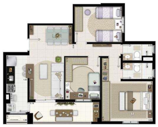 | 3 Dormitórios PONTA