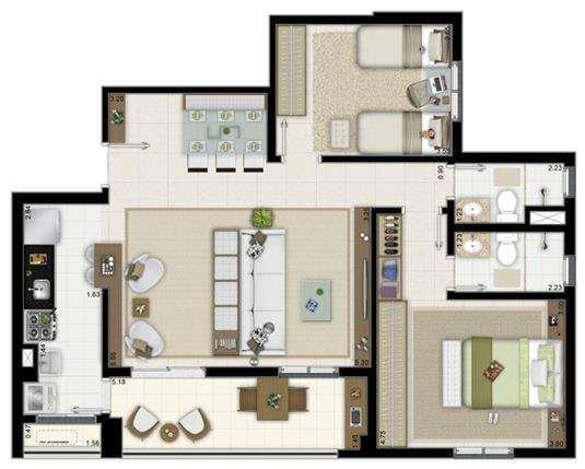 3 Dormitórios I