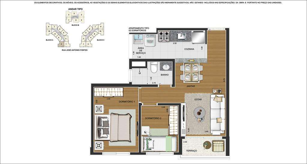 Residencial Brisbane | Tipo 2 Dorms