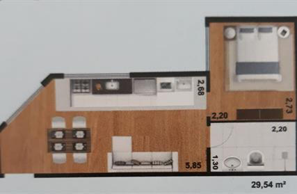 Flat / Studio para Venda, Jardim Mimar