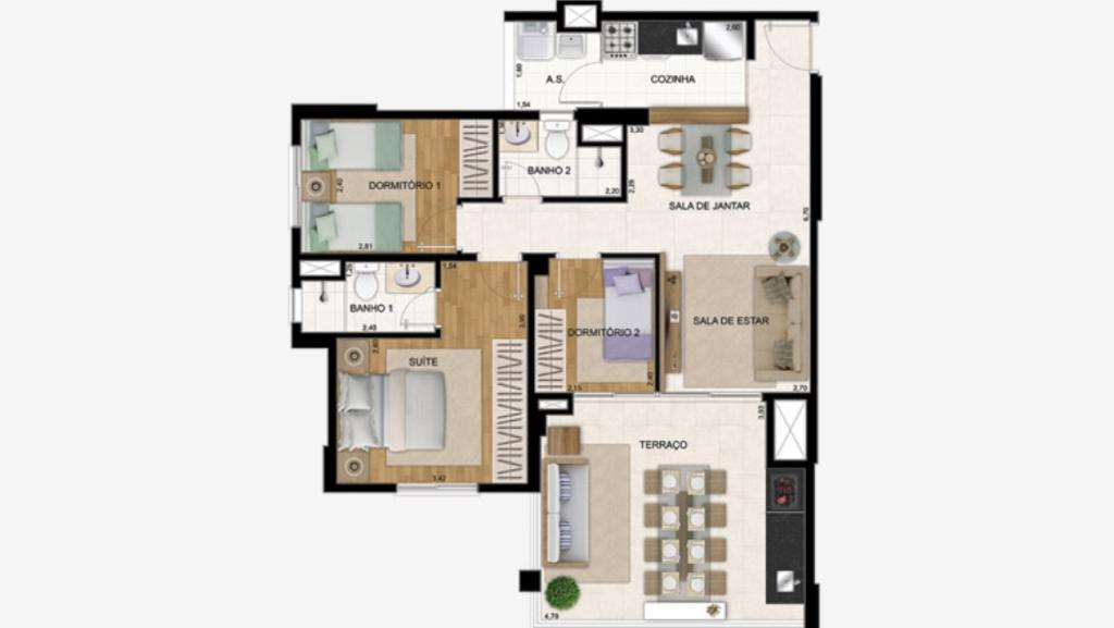 | 3 Dormitórios