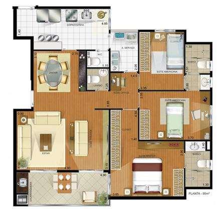| Planta 100 m²