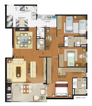 | Planta 118 m²
