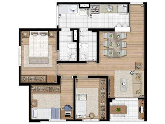 Alcance Vila Maria | 69m² - 3 Dormitórios