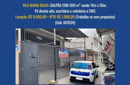 Galpão / Salão para Alugar, Vila Maria Baixa