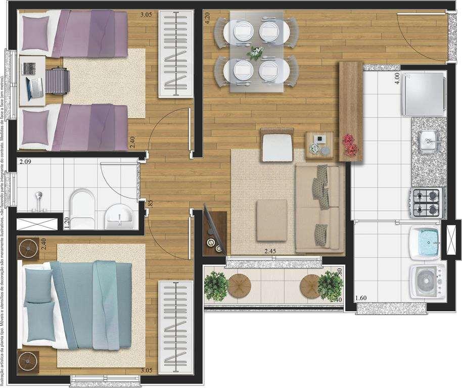   2 Dormitórios Natura