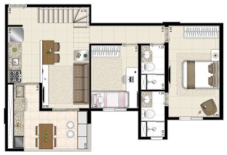 | Duplex 63m² Inferior