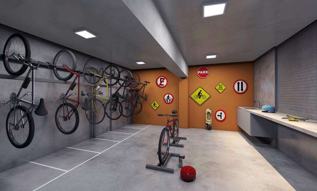 Link Ipiranga | Perspectiva Artística - Bicicletário