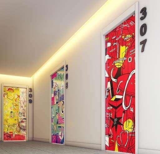 | Perspectiva Artística - Hall dos Apartamentos