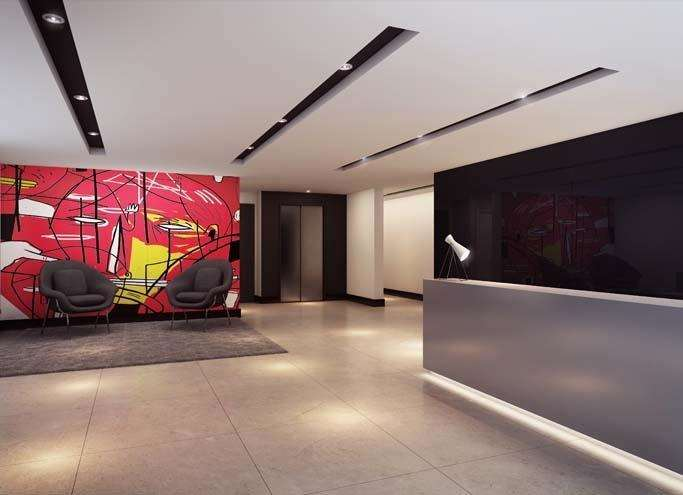 | Perspectiva Artística - Hall Social