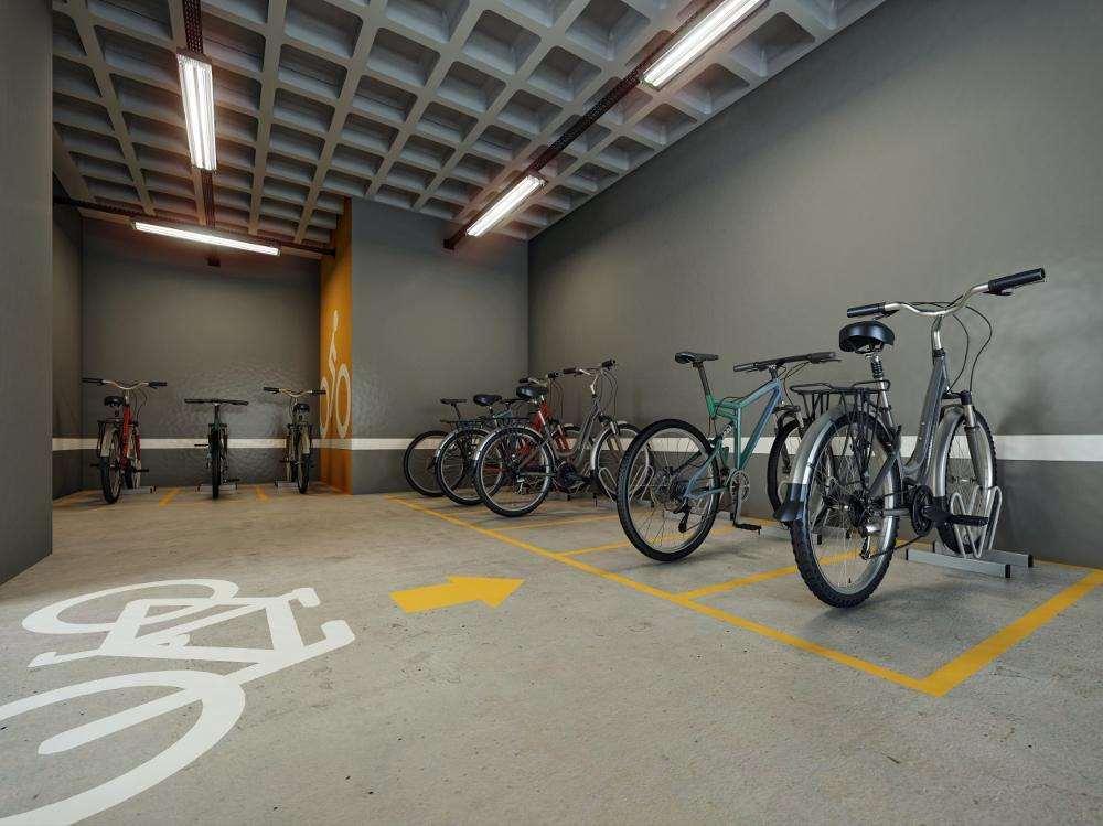Quadra Vila Mascote | Perspectiva Artística - Bicicletário