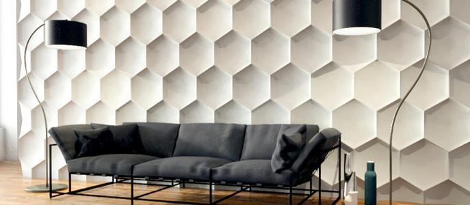 Imagem Revestimento 3D é tendência de decoração