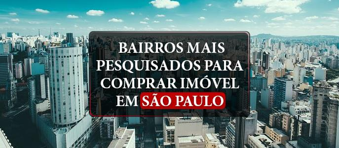 Imagem Quais são os bairros mais pesquisados para comprar imóvel em São Paulo?