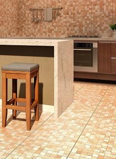 Foto - piso cerâmico na cozinha